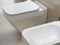 Neuesbad Serie 300 Wand-Tiefspül-WC spülrandlos (rimless), weiss mit Beschichtung, B:350, T:520mm