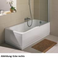 Bette Rechteck-Badewanne Set Comfort 2560, 150x75x38 cm