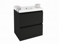 Cosmic B-Box Schrank 2 Schubladen mit Waschbecken glänzend, (60 cm), B05010601158