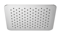 HSK Kopfbrause Eckig, super-flach, 400 x 400 x 2 mm, chrom