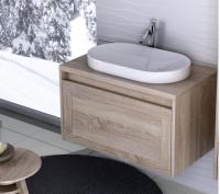 Neuesbad Premium Serie 5 Waschtischunterschrank mit Platte