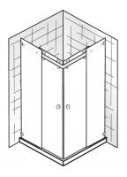 HSK Atelier Pur AP.32 Eckeinstieg mit Gleittüren