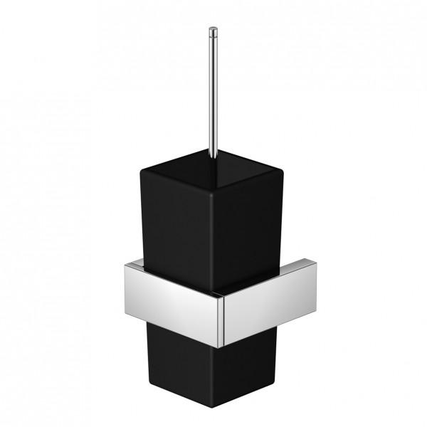 Steinberg Serie 460 Bürstengarnitur mit Glas, Messing, satiniert schwarz matt, chrom, 460.2904