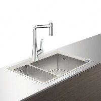 Hansgrohe Select Spülencombi 180 x 450 edelstahl-optik C71-F655-04 ST, 43210800