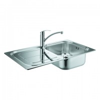 GROHE Spülen-Bundle K300 31565 mit Edelstahlspüle/Eurosmart Küchenarmatur , 31565SD0