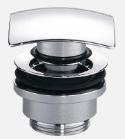 Design-Schaftventil eckig mit Verschluss Klick-Klack