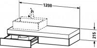 Duravit Konsole mit Schubkasten Fogo T:550, B:1200, H:215mm, FO85240