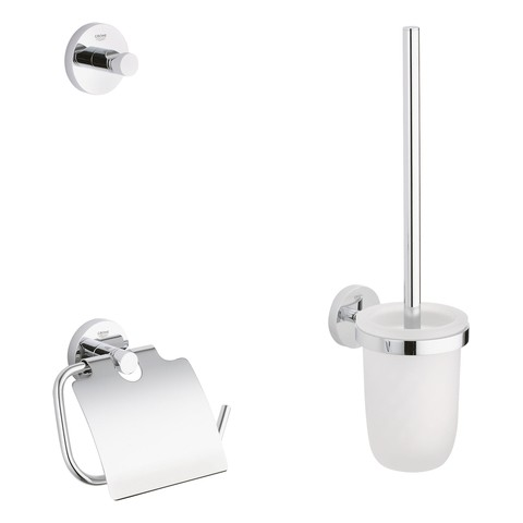 Grohe WC-Set 3 in 1 Essentials 40407 chrom, 40407001