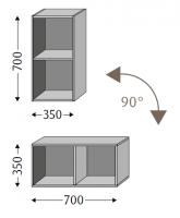 Sanipa Cubes offen CU10136, Kirsche Natural-Touch