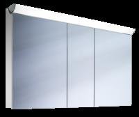 Schneider Spiegelschrank Faceline 130/3/FL, 1x54W+1x28W 1300x750x120 alueloxiert, 152.130.02.50