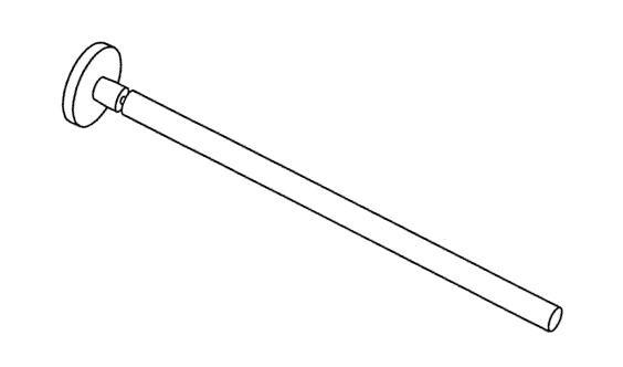 Giese Handtuchhalter 1tlg. starr L: 420 mm, 28050-02
