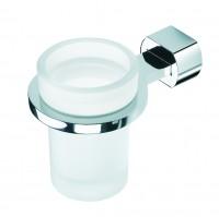 Neuesbad Zahnbürstenglas mit Halter ROCK chrom