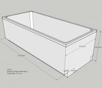 Neuesbad Wannenträger für für Bette Select Badewanne 3413, 180 x 80 cm