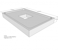 Neuesbad Wannenträger für Bette Floor 1200x800