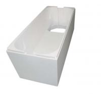Neuesbad Wannenträger für Vitra Privat Eck/BW 150 150x150 mit Ablage Fünfeck