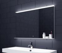Neuesbad LED Lichtspiegel mit Touch Schalter und Glasablage, B:1400, H:750 mm