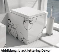 ArtCeram Block Stand-Tiefspül-WC, B: 360, T: 490 mm, black lettering Dekor