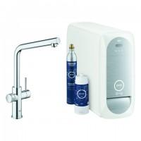 Grohe Blue Home Starter Kit 31454 Bluetooth/WIFI L-Auslauf chrom, 31454001