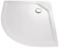 HSK Acryl Viertelkreis-Duschwanne super-flach 100 x 100 x 3,5 cm, ohne Schürze