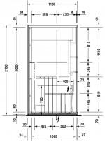 Duravit Sauna Inipi B 2365x1170x2130mm