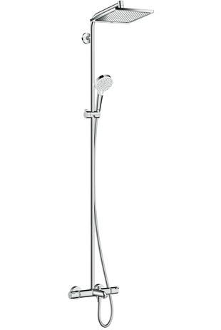 Hansgrohe Showerpipe Crometta E 240 für Wanne chrom mit Thermostat, 27298000