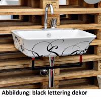 ArtCeram Cow Waschtisch/Aufsatzwaschtisch, B: 600, T: 450 mm, schwarz weiss Dekor