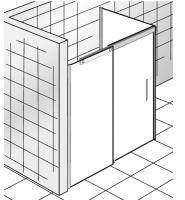 HSK K2 P Gleittür 2-teilig mit Seitenwand