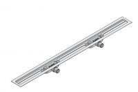 I-DRAIN Korpus Linear 72 mm, 90cm,2Siphon waagr.DN50,mit Abdichtg