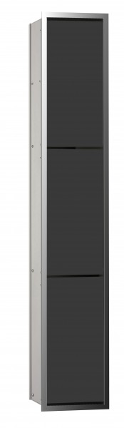 Emco asis WC-Modul (150), Unterputz, 964mm, ohne Einbau-Rahmen,chrom/schwarz, 976027965