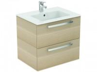 Ideal Standard Waschtisch/Möbel-Paket EUROVIT PLUS, 610x450x565mm, Weiß / Hgl.weiß lackiert, K2979WG