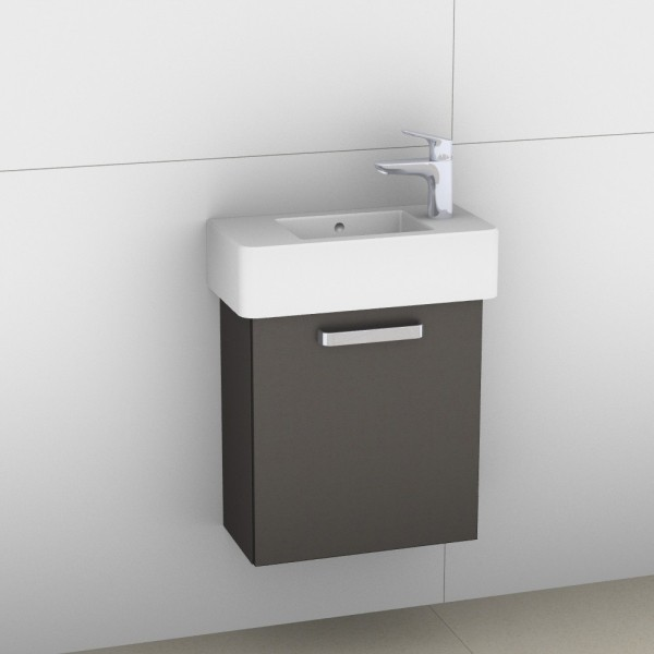 Artiqua 411 Waschtischunterschrank für Vero 070350, Stahlgrau Metallic, 411-WUT-D28-R-7141-88