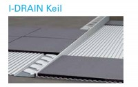 I-DRAIN Keil rechts 0,98 m, Edelstahl, gebürstet, h1 8mm, h2 24mm