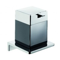 Emco Asio Seifenspender mit Kristallglas schwarz, chrom/chrom