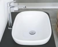 Globo Genesis Einbau-Waschtisch, B: 600, T: 400 mm, mit Konsole, B: 1200, T: 520 mm