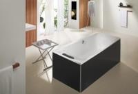 Hoesch Glasverkleidung schwarz für freistehende Badewanne Rechteck 170X80, 47064.552
