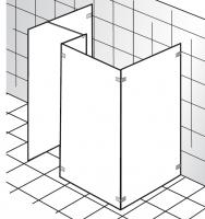 HSK Walk in K2.73 1 Glaslement + Seitenwand + Seitenteil + freistehende Seitenwand