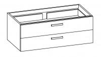 """Artiqua COLLECTION 411 Waschtischunterschrank zu """"Starck 3"""" 033213 B:1250mm"""