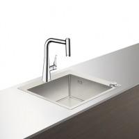Hansgrohe Select Spülencombi 450 edelstahl-optik C71-F450-01 ST, 43207800