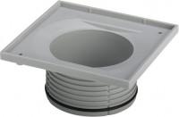 Viega Aufsatzrahmen 4912.2 in 150x150mm Kunststoff grau