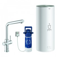 Grohe Armatur und Boiler Red Duo 30325 L-Size L-Auslauf chrom, 30325001