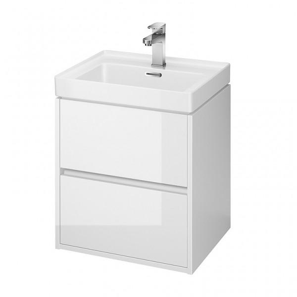Neuesbad Serie 300 Waschtischunterschrank, B:494, T:397, H:533mm, weiss glänzend Lack