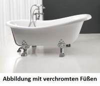 Axa One Contea klassische freistehende Badewanne, 1700 x 770 mm, weiss