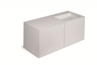 Cosmic Block Schrank 4 Schubladen mit Waschtischen Rechts matt Ohne Hahnloch,B:1200, H:520, T:500 mm