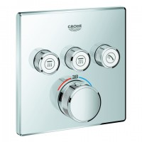 Grohe Thermostat Grohtherm SmartControl 29126 eckig FMS 3 Absperrventile chrom, 29126000