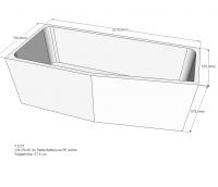 Neuesbad Wannenträger für Bette Luna 170x75 Ausf.re