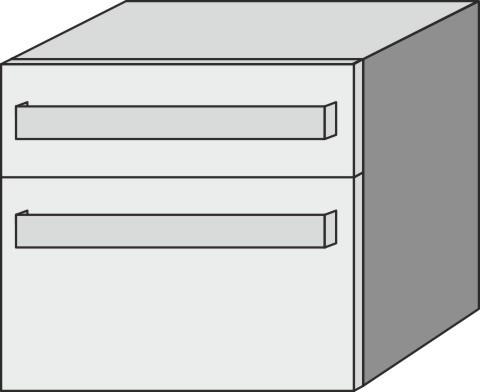 Sideboard mit Steckd. Up2U GT16112, Esche Natural-Touch, H:540, B:600, T:449 mm GT16112