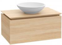 Villeroy & Boch Waschtischunterschrank Legato B102L0, WT mittig White Wood, B102L0E8