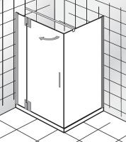 HSK K2 P Drehtür an Nebenteil und Seitenwand