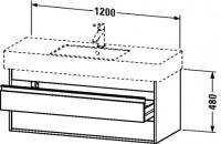 Duravit Waschtischunterschrank wandhängend Ketho T:455, B:1200, H:480mm, KT6642