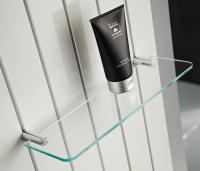HSK Glasablage 250 x 80 mm, klar hell, für Badheizkörper Alto
